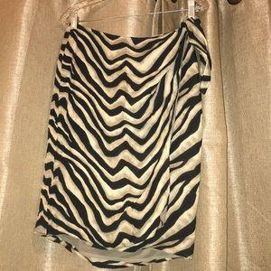 EUC SZ 10 💯 Silk Wrap Skirt